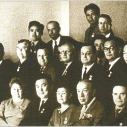 1970 г. Вместе с сотрудниками аппарата президиума