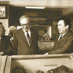 1971 г. Алматы. Вице-президент М.А. Лаврентьев и президент Каз ССР Ш.Есенов