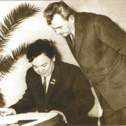 1969г. Тбилиси Ш.Есенов и Д.А.Кунаев